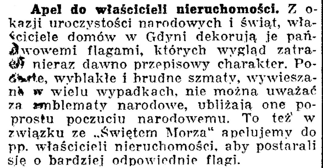 Apel do właścicieli nieruchomości // Dziennik Bydgoski. - 1936, nr 148, s. 7