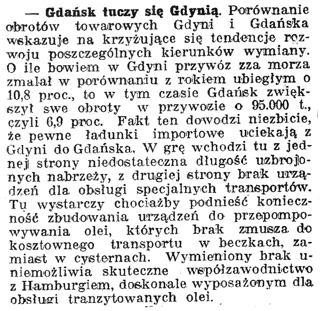 Wiele hałasu o nic // Dziennik Bydgoski. - 1939, nr 14, s. 8