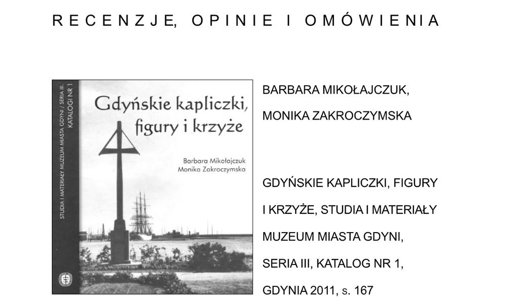 Gdyńskie kapliczki, figury i krzyże