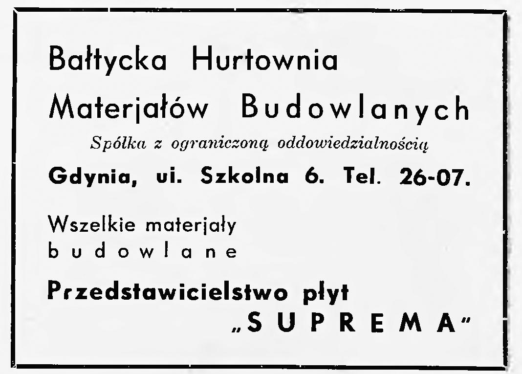 Bałtycka Hurtownia Materjałów Budowlanych