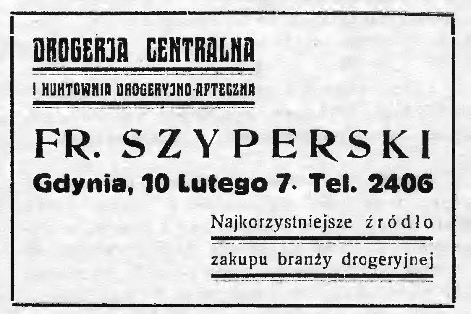 Drogerja Centralna Fr. Szyperski