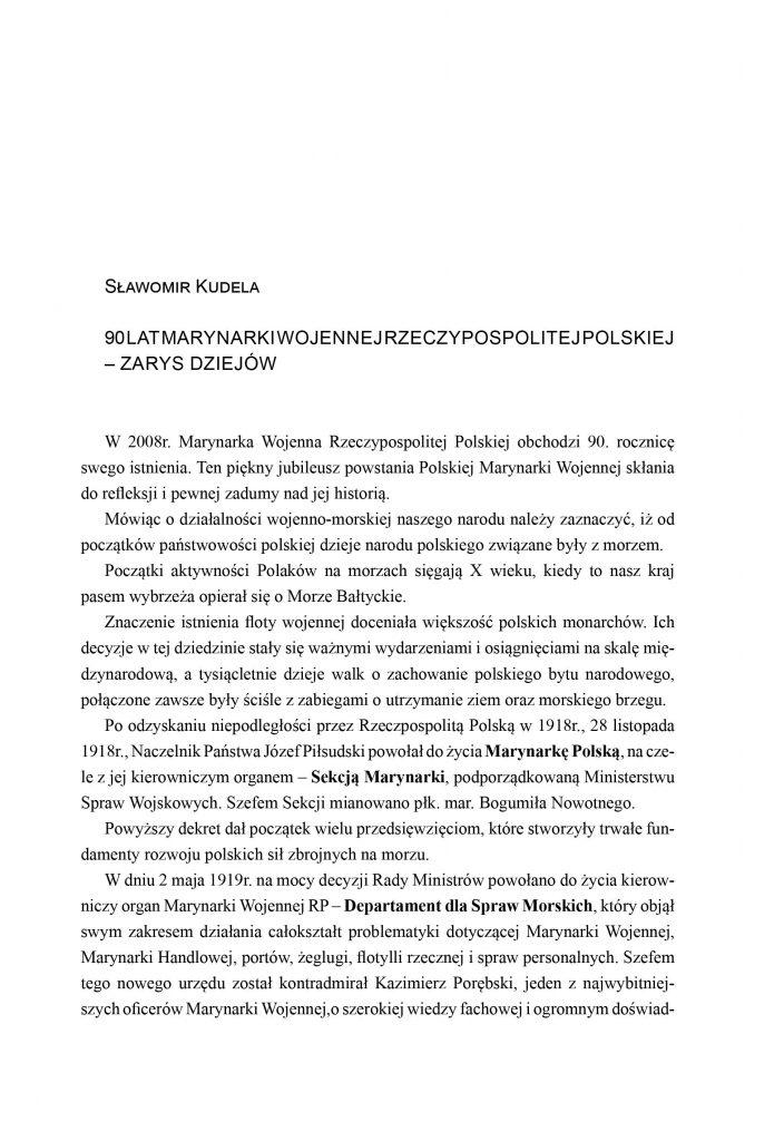 90 lat Marynarki Wojennej Rzeczypospolitej Polskiej - zarys dziejów