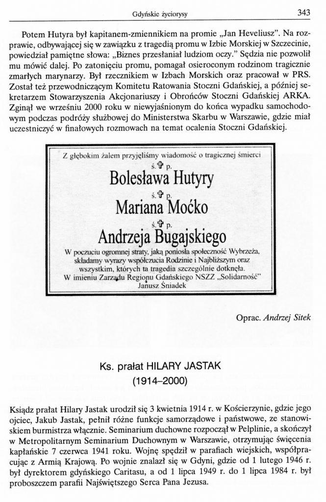 Ks. prałat Hilary Jastak (1914-2000)