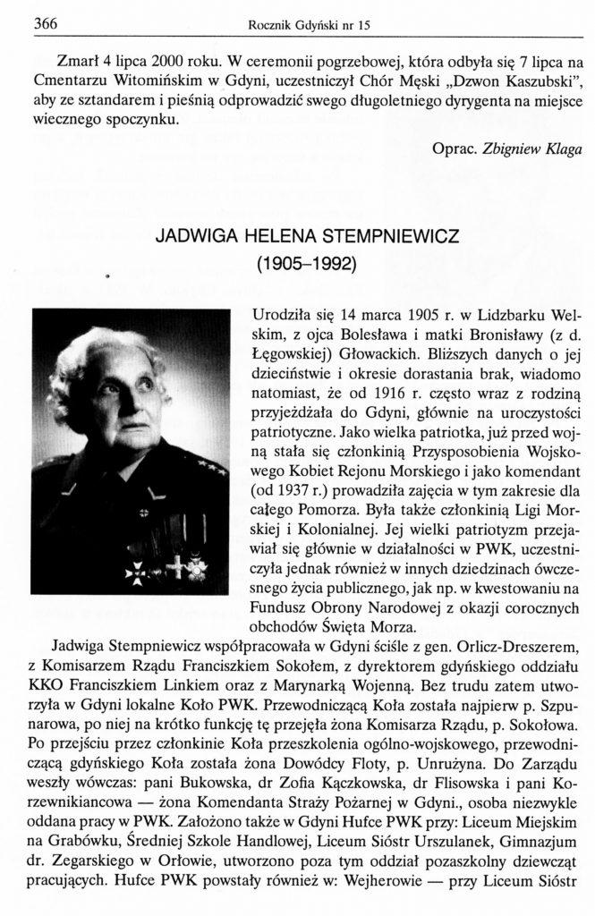 Jadwiga Helena Stempniewicz (1905-1992)