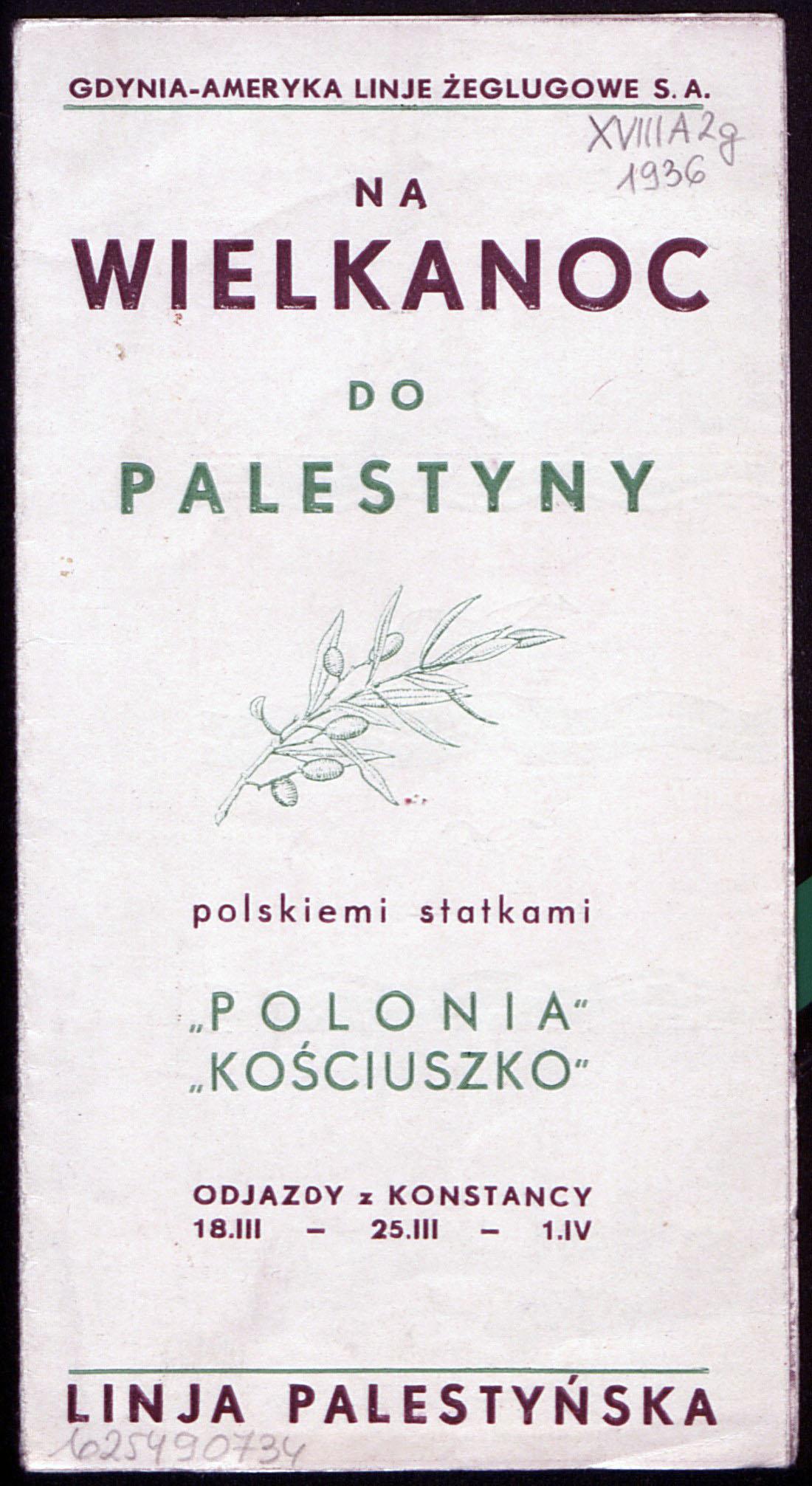Na Wielkanoc do Palestyny