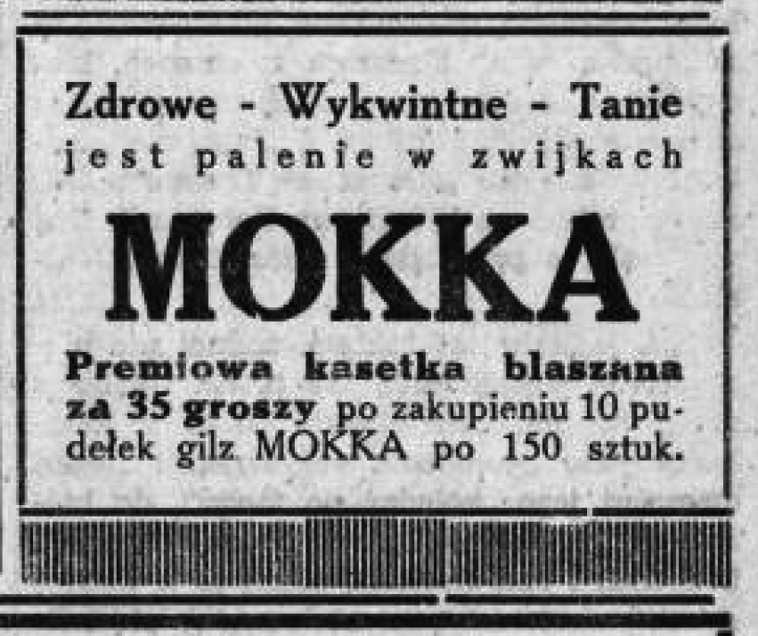 Mokka Zdrowe - Wykwintne - Tanie jest palenie w zwijkach