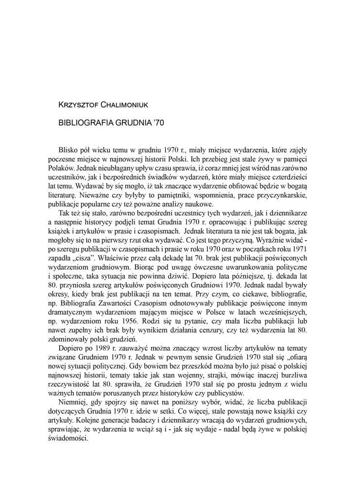 Bibliografia Grudnia '70
