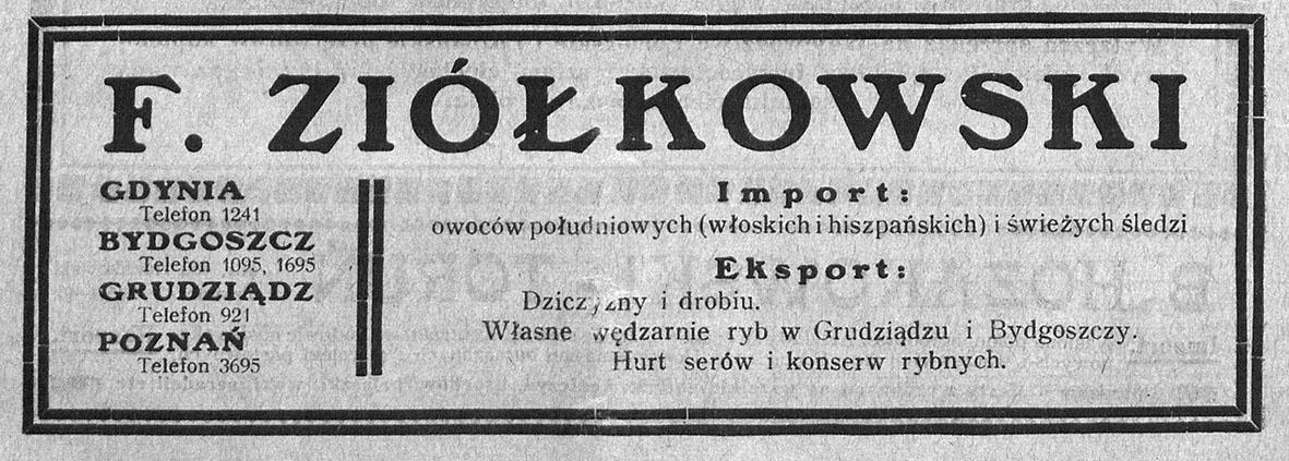 F. Ziółkowski Import owoców południowych