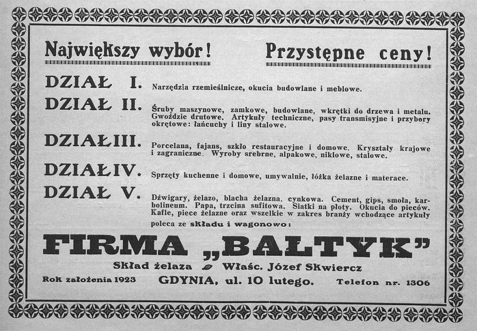 """Firma """"Bałtyk"""""""