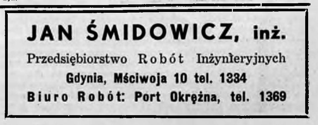 Jan Śmidowicz, inż Przedsiębiorstwo Robót Inżynieryjnych