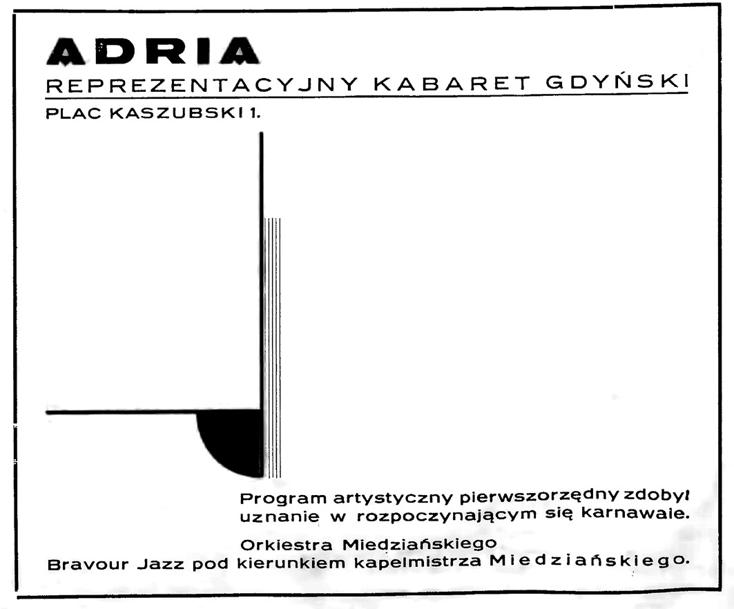 ADRIA reprezentacyjny kabaret gdyński