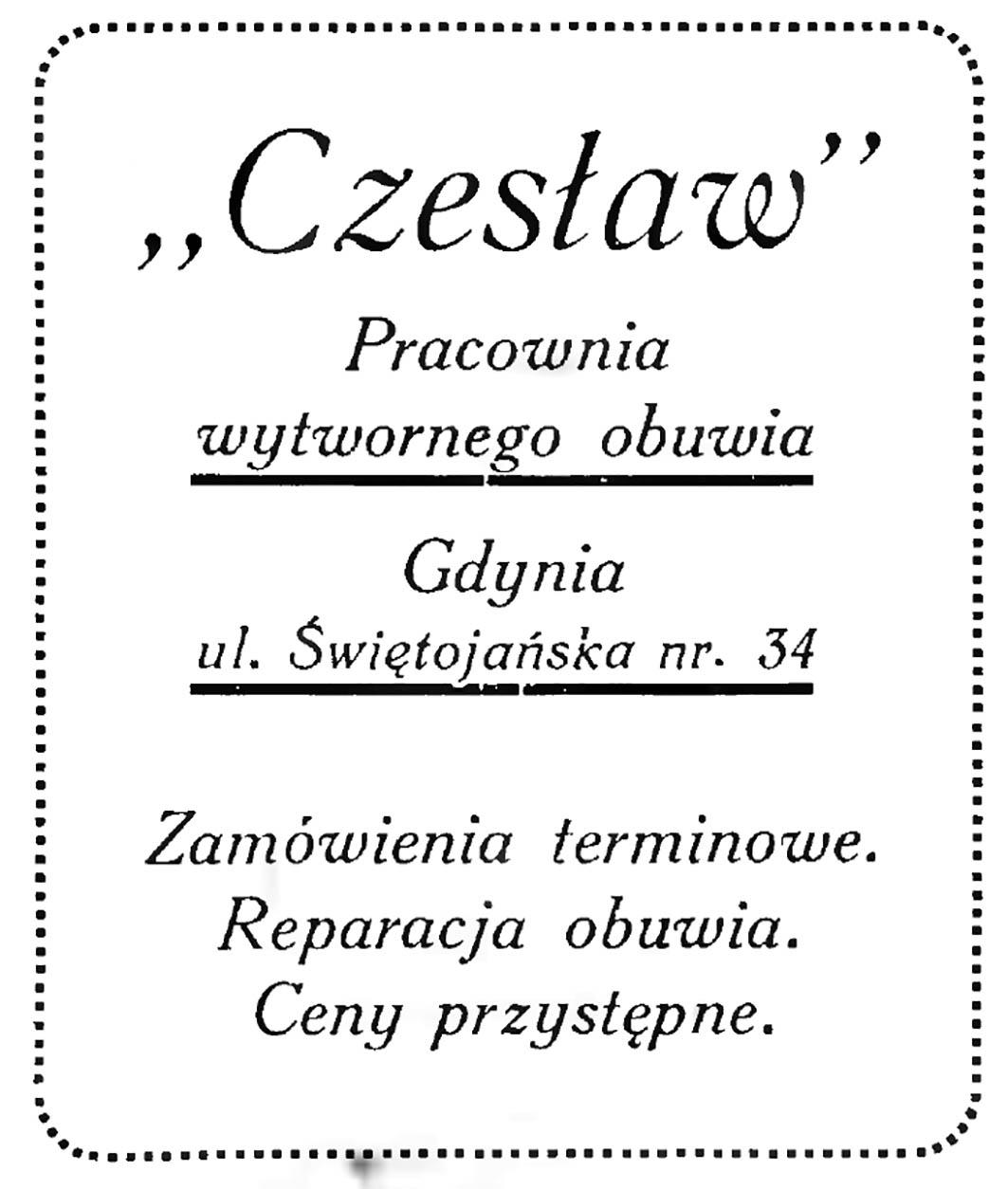 Czesław Pracownia wytwornego obuwia