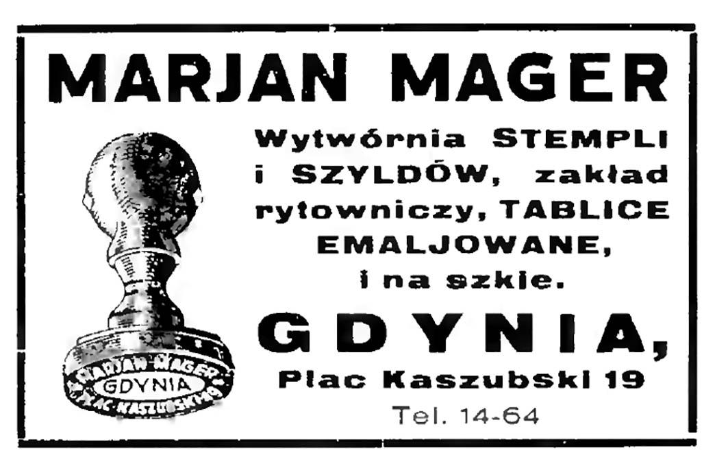 MARJAN MAGER Wytwórnia STEMPLI i SZYLDÓW