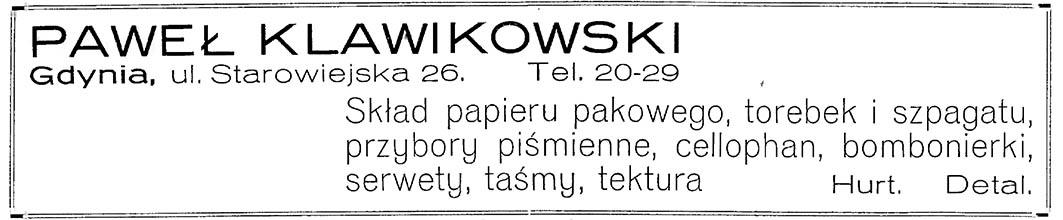 PAWEŁ KLAWIKOWSKI Skład papieru pakowego, torebek i szpagatu