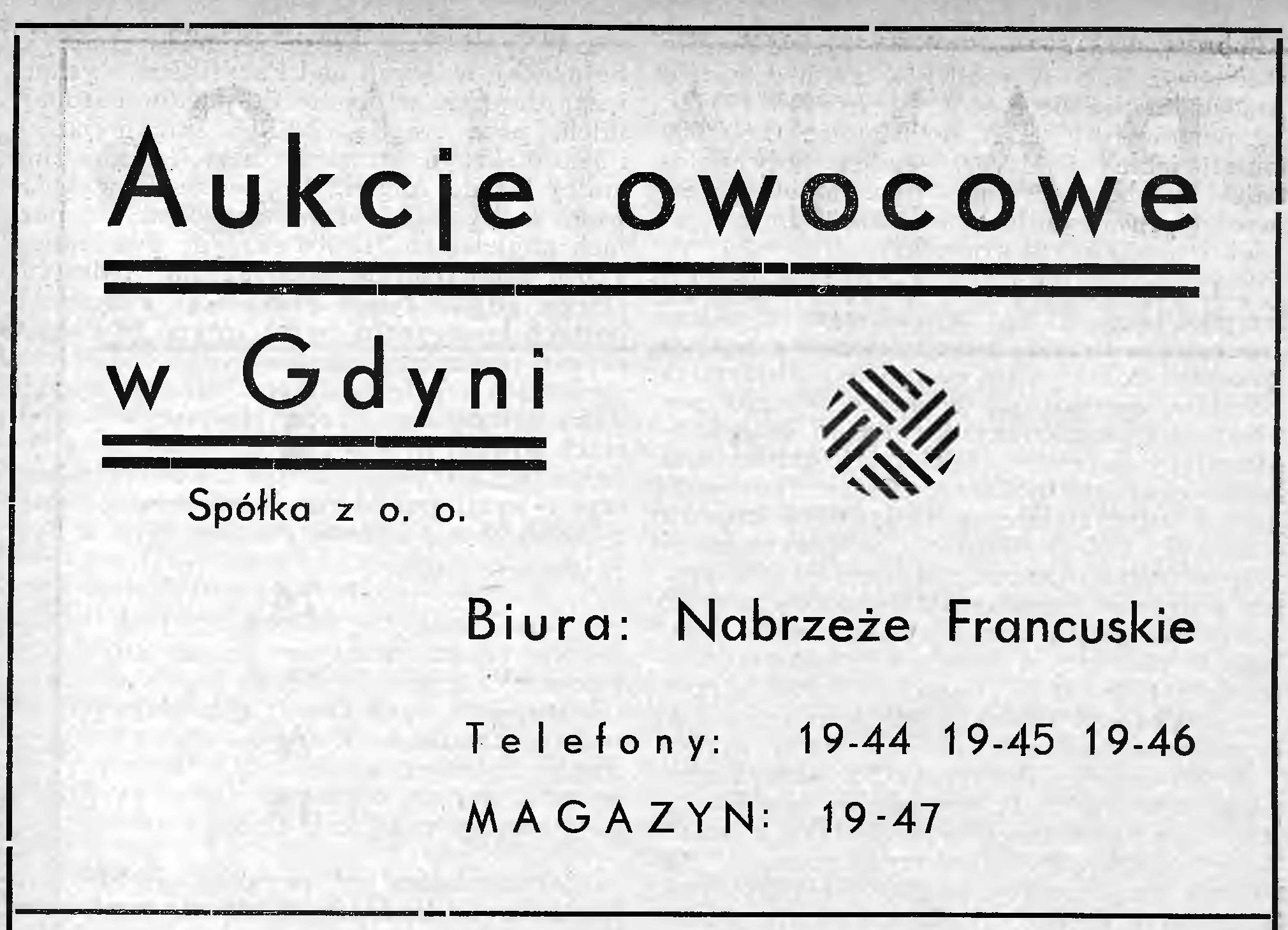 Aukcje owocowe w Gdyni Spółka z o. o.