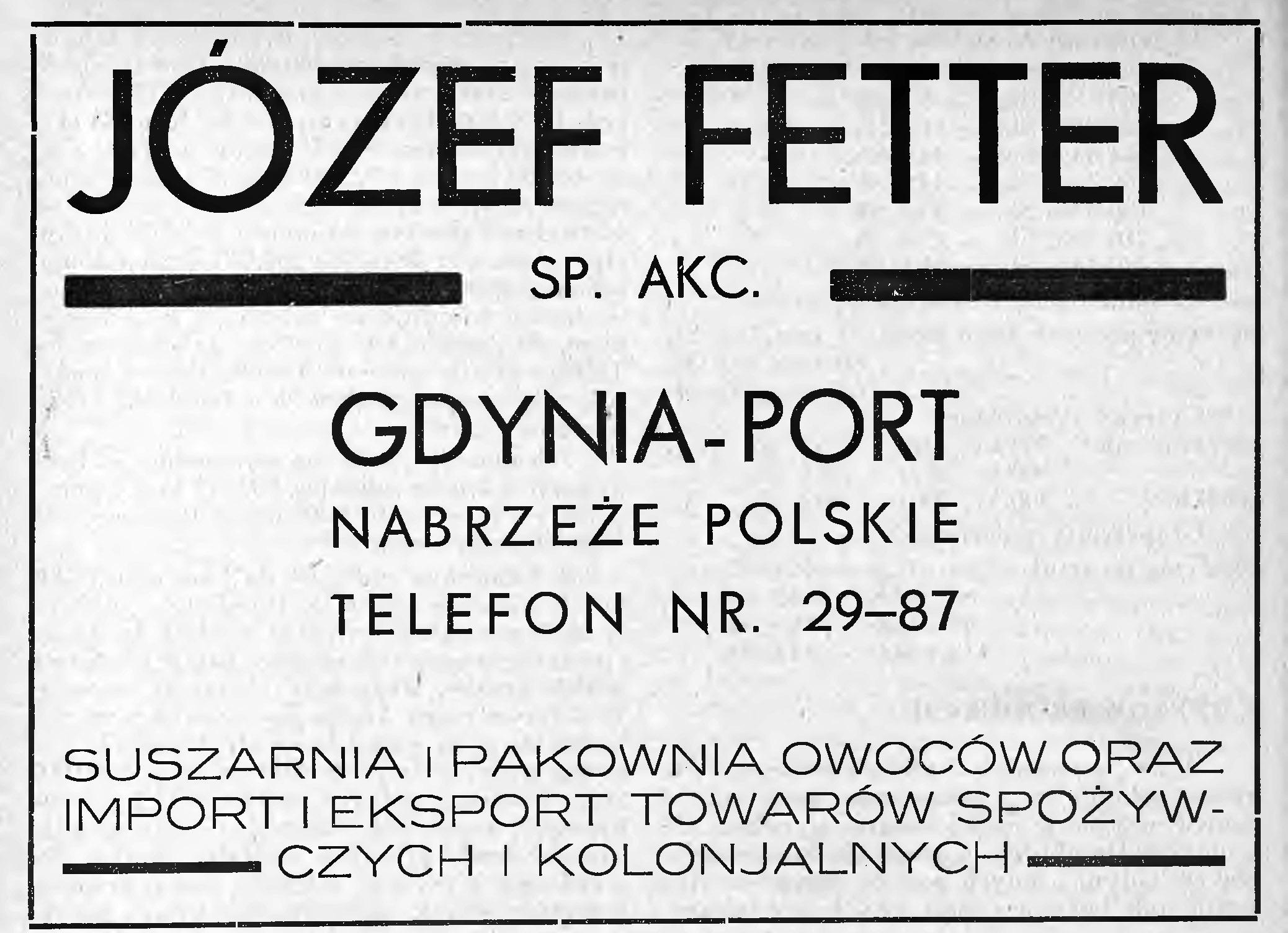 JÓŻEF FETTER SP. AKC.