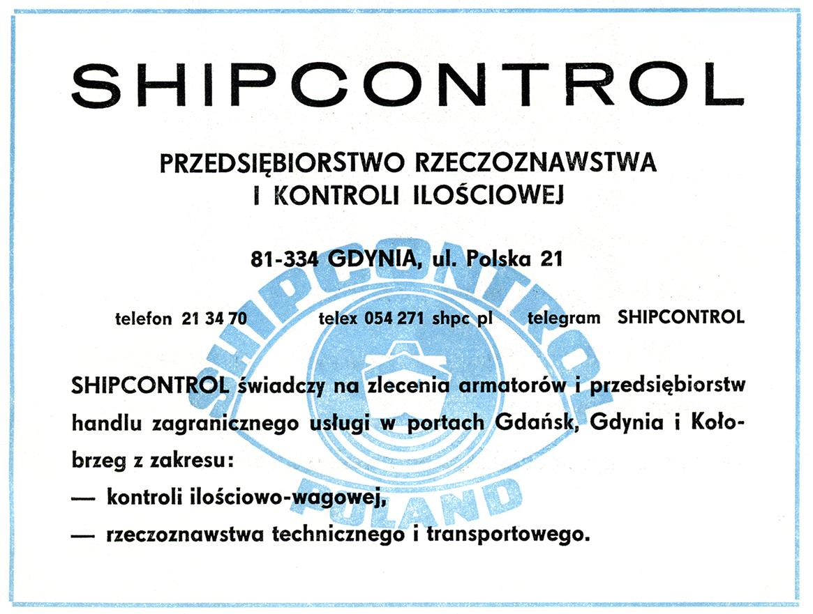 SHIPCONTROL Przedsiębiorstwo Rzeczoznawstwa i Kontroli Ilościowej