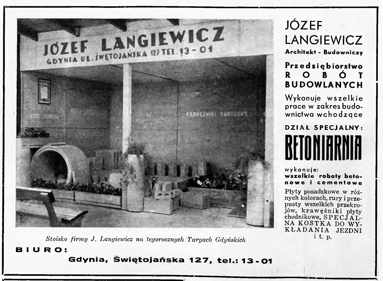 Jóżef Langiewicz Architekt - Budowniczy Przedsiębiorstwo Robót Budowlanych