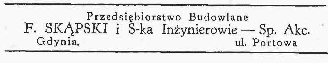 F. Skąpski i S-ka Inżynierowie - Sp. Akc.