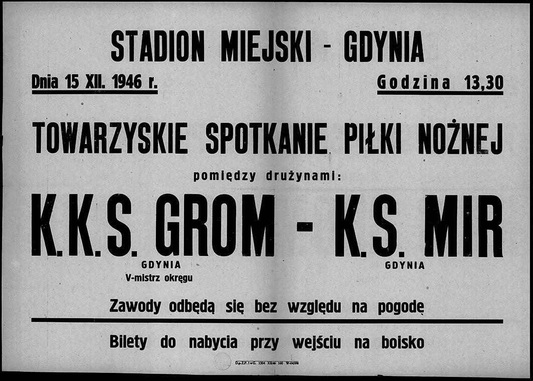Towarzyskie spotkanie piłki nożnej K.K.S. GROM - K.S. MIR