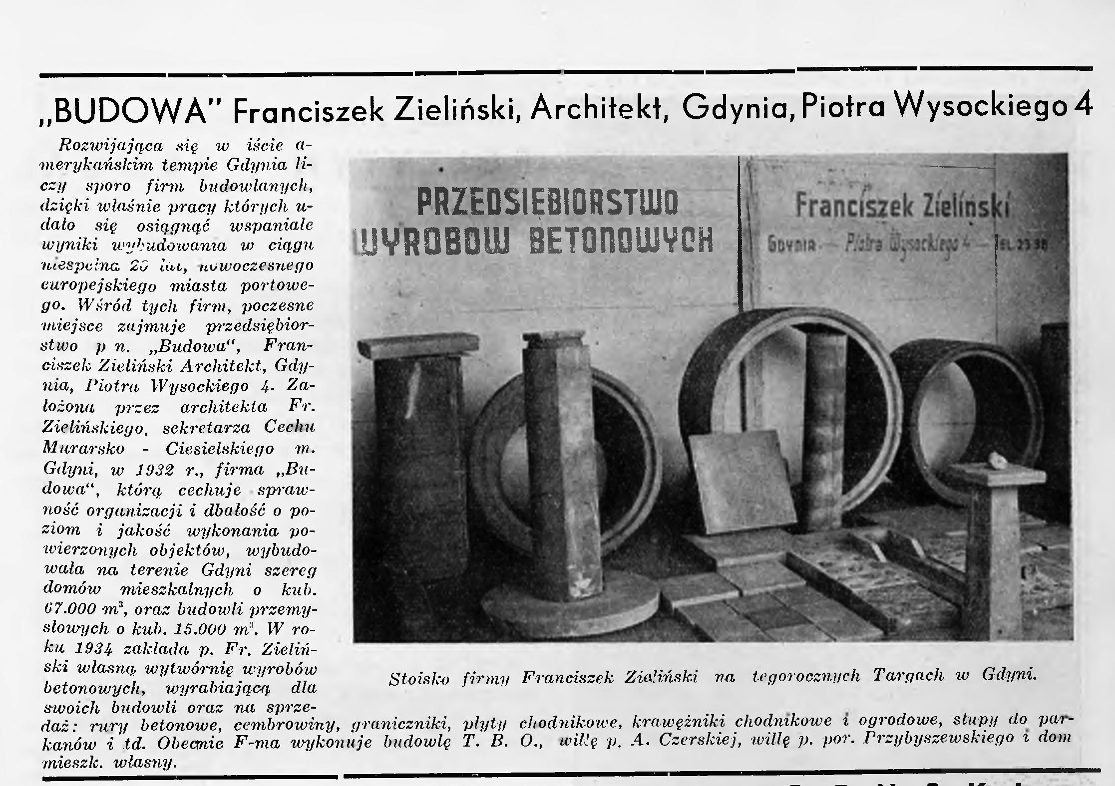"""""""BUDOWA"""" Franciszek Zieliński"""