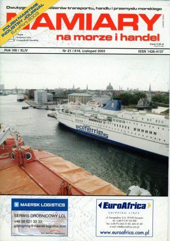 NAMIARY NA MORZE I HANDEL: dwutygodnik menedżerów transportu, handlu i przemysłu morskiego