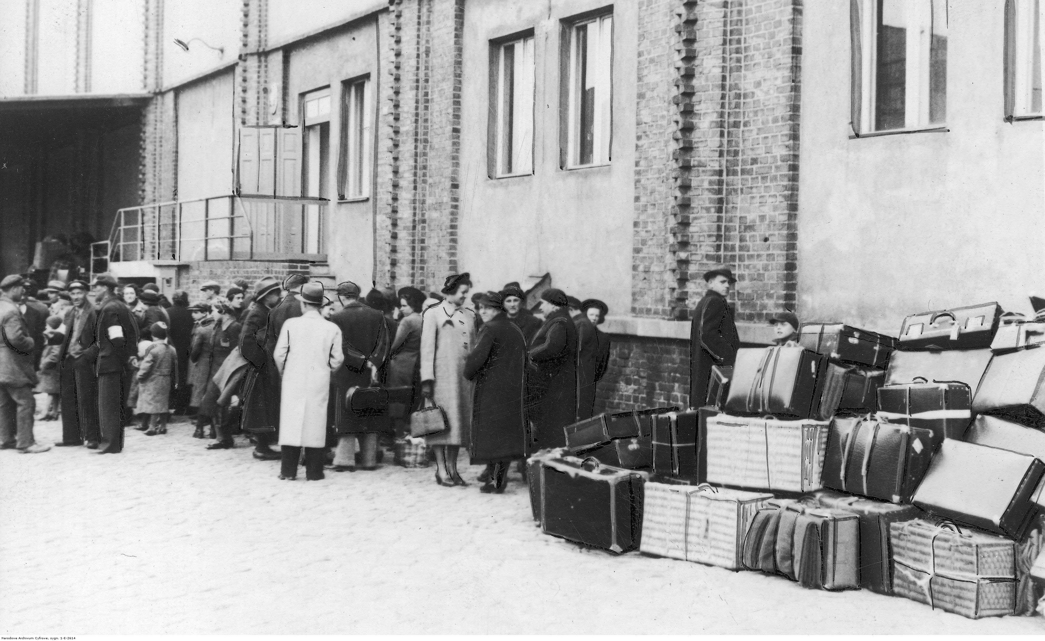 Port - uciekinierzy z Czechosłowacji przed wyjazdem do Kanady.