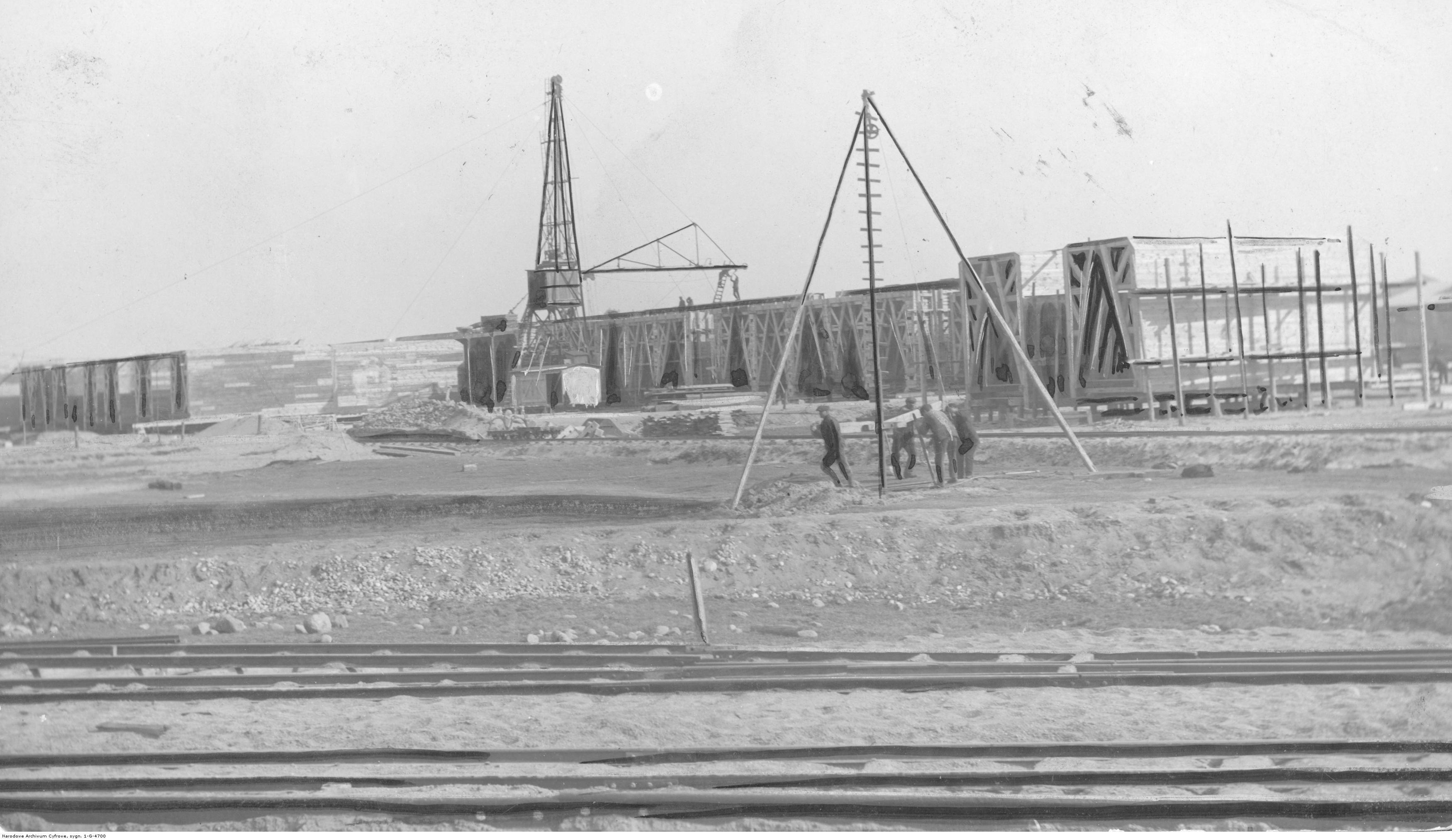 Budowa portu morskiego w Gdyni.