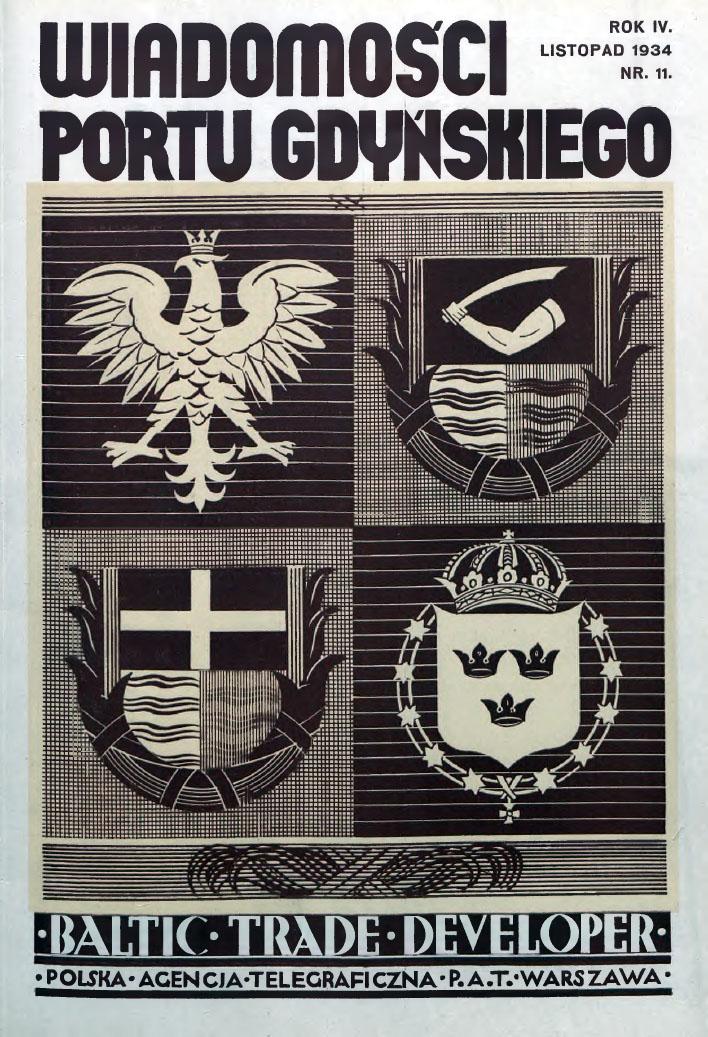 Wiadomości Portu Gdyńskiego. - 1934, z. 11