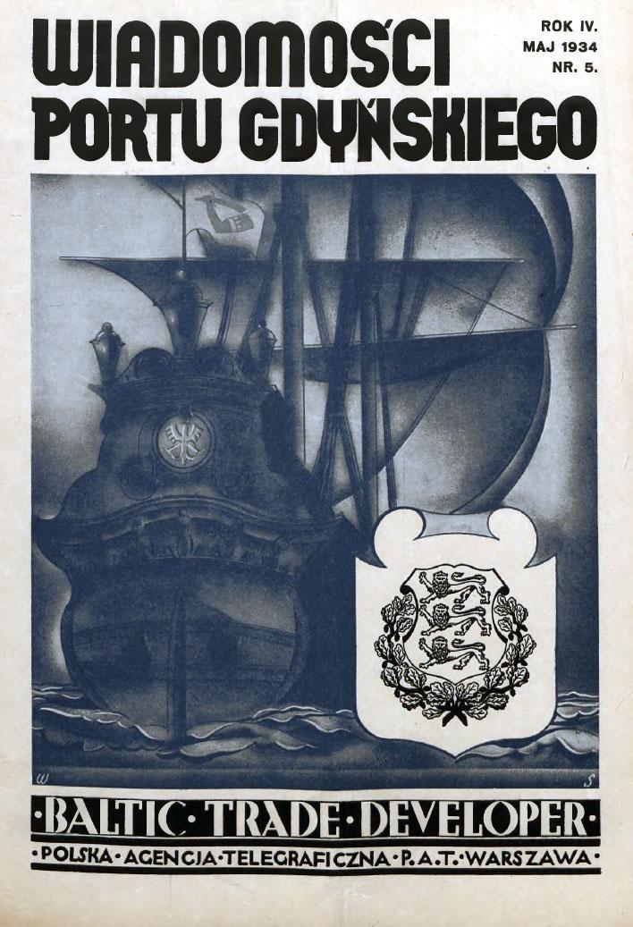 Wiadomości Portu Gdyńskiego. - 1934, z. 5