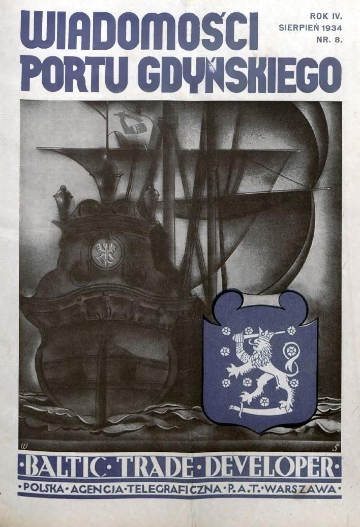 Wiadomości Portu Gdyńskiego. - 1934, z. 8