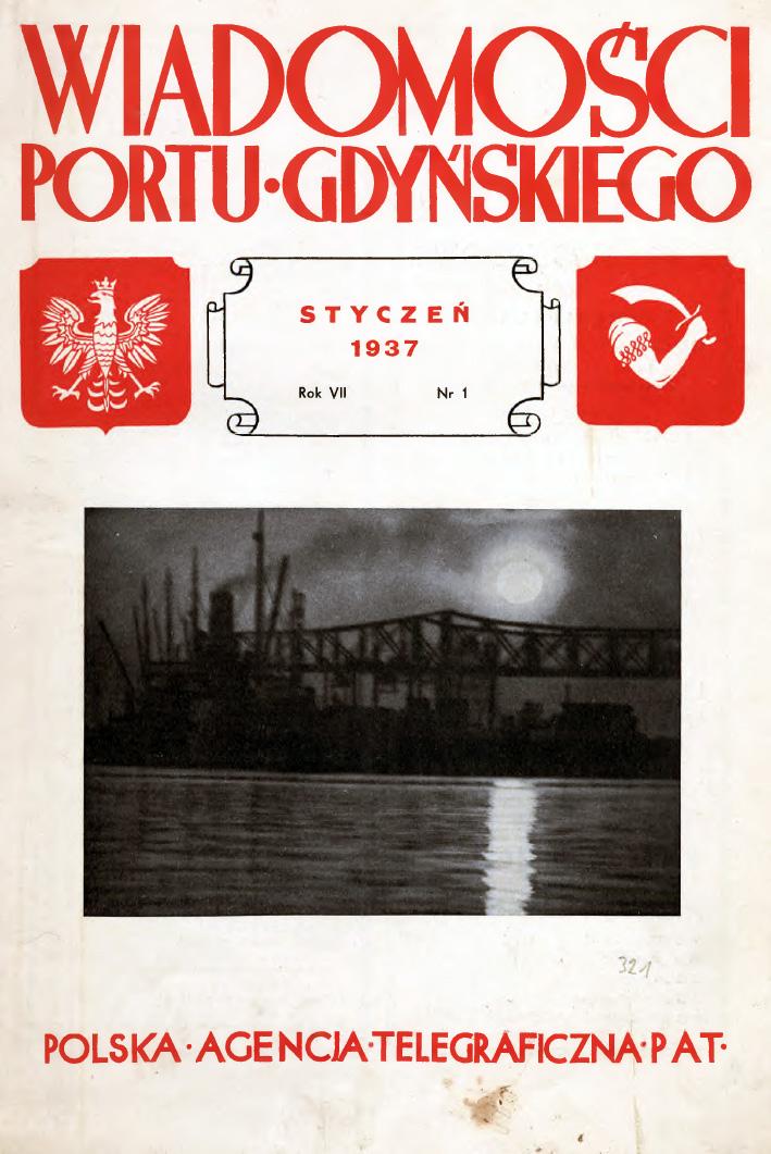 WIadomości Portu Gdyńskiego 1937, nr 1