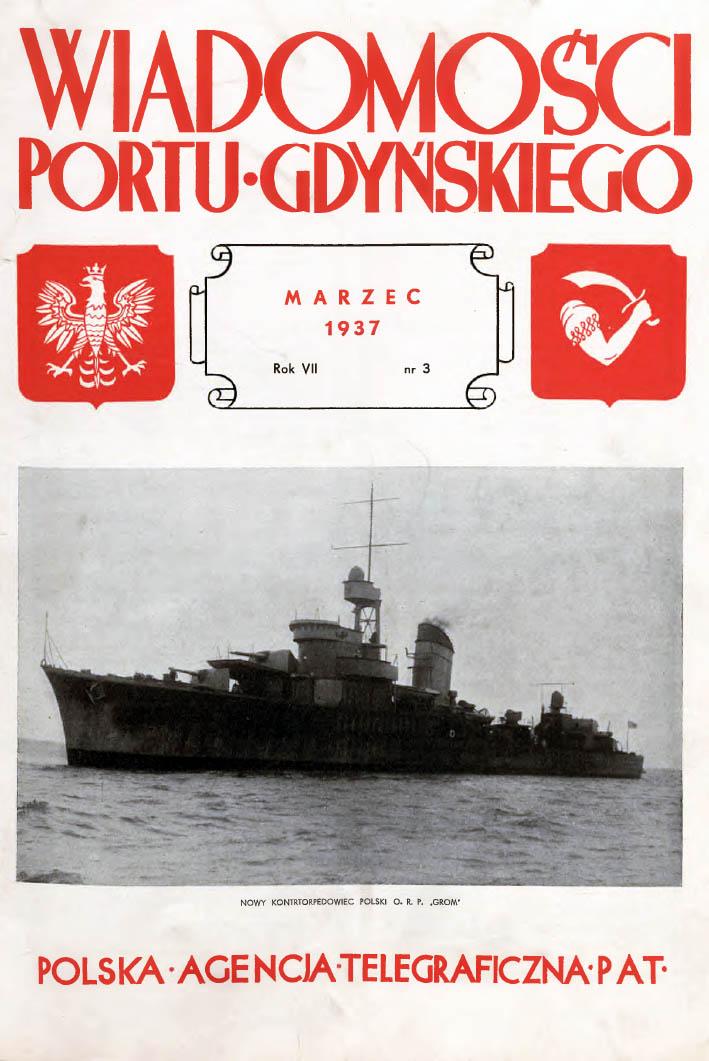 Wiadomości Portu Gdyńskiego. - 1937, nr 3
