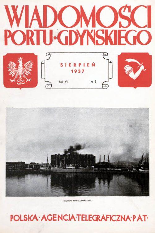 Wiadomości Portu Gdyńskiego. - 1937, nr 8