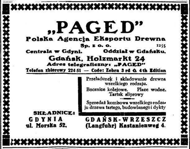 """""""PAGED"""" Polska Agencja Eksportu Drewna Sp. z o.o."""