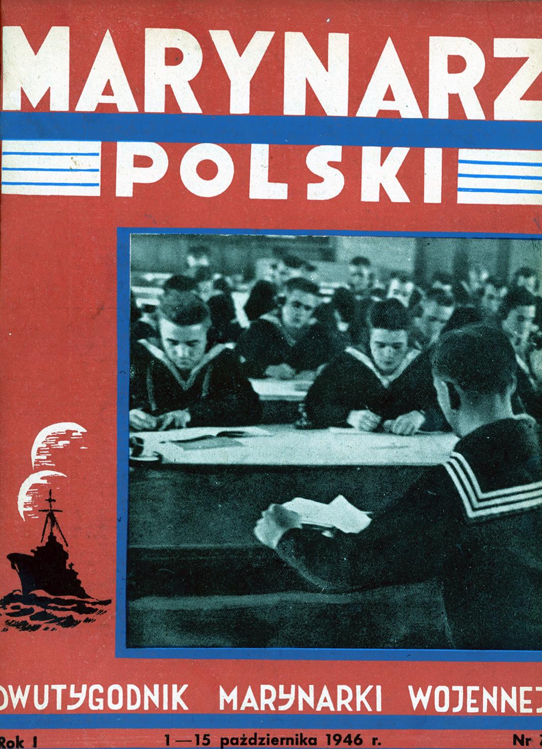 Marynarz Polski : miesięcznik Marynarki Wojennej. - Gdynia : Zarząd Pol.- Wych. Marynarki Wojennej, 1946, październik 1