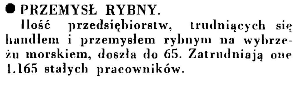 Przemysł rybny // Wiadomości Portu Gdyńskiego. - 1935, nr 1, s. 13