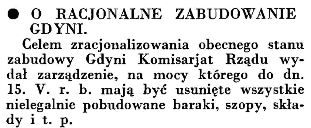 O racjonalne zabudowanie Gdyni // Wiadomości Portu Gdyńskiego. - 1935, nr 4, s. 15