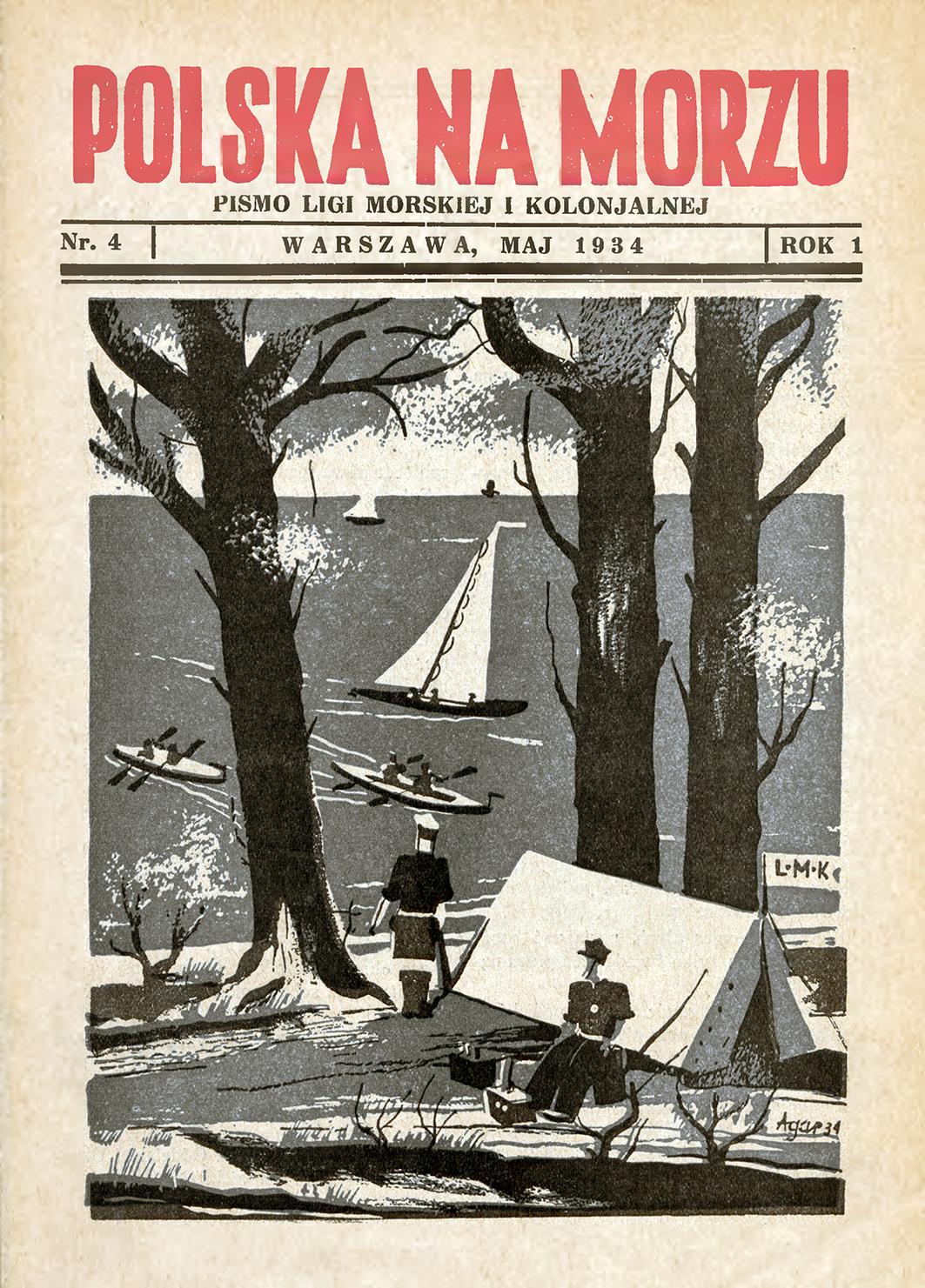 Polska na Morzu : pismo Ligi Morskiej i Kolonjalnej. - Liga Morska i Kolonialna, 1934, nr 4