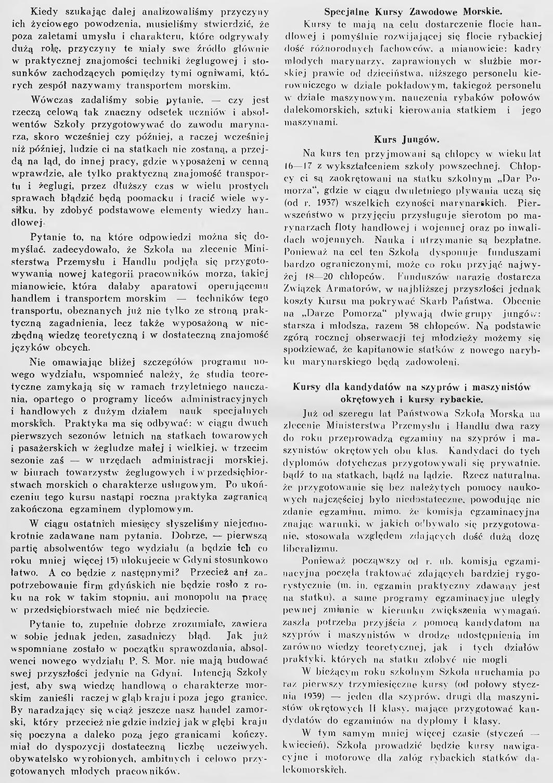 Państwowa Szkoła Morska w Gdyni // Praca na morzu: miesięcznik oficerów polskiej marynarki handlowej. - 1939, nr 1, s. 3-7. - Il.