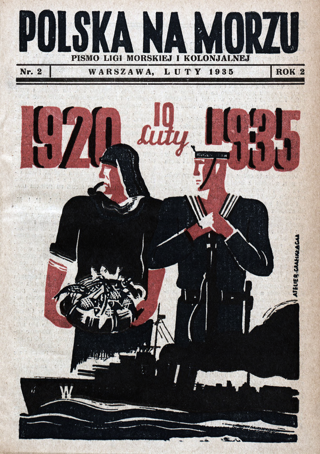 Polska na Morzu : pismo Ligi Morskiej i Kolonjalnej. - Liga Morska i Kolonialna, 1935, nr 2