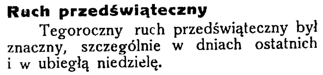 Ruch przedświąteczny // Latarnia Morska. - 34, nr 46, s. 13
