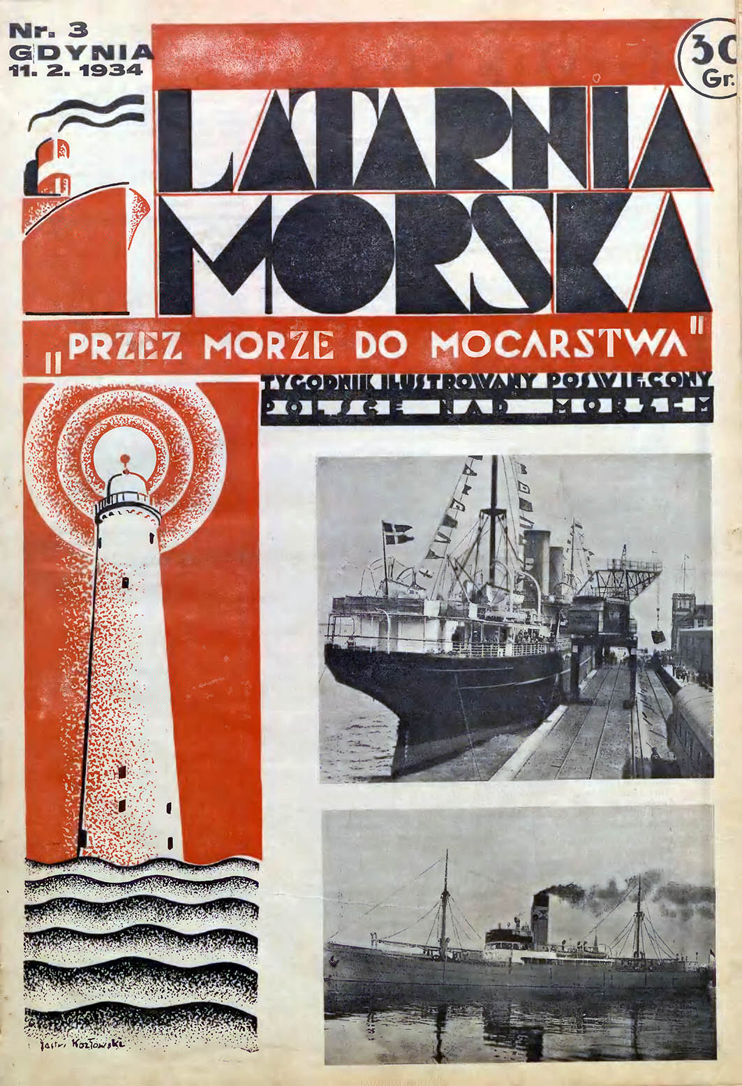 Latarnia Morska: tygodnik ilustrowany poświęcony Polsce nad morzem. - Gdynia : Balto Polak