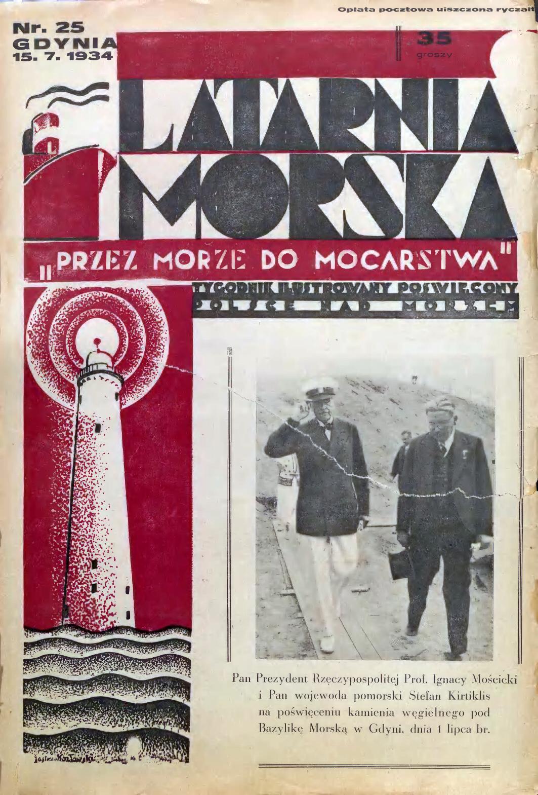 Latarnia Morska: tygodnik ilustrowany poświęcony Polsce nad morzem. – Gdynia : Balto Polak – Zakłady Graficzne i Wydawnicze, 1934, nr 25