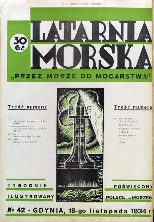 Latarnia Morska: tygodnik ilustrowany poświęcony Polsce nad morzem. – Gdynia : Balto Polak – Zakłady Graficzne i Wydawnicze, 1934, nr 42