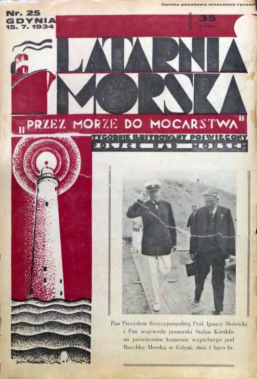 Latarnia Morska: tygodnik ilustrowany poświęcony Polsce nad morzem. – Gdynia : Balto Polak – Zakłady Graficzne i Wydawnicze, 1934, nr 46