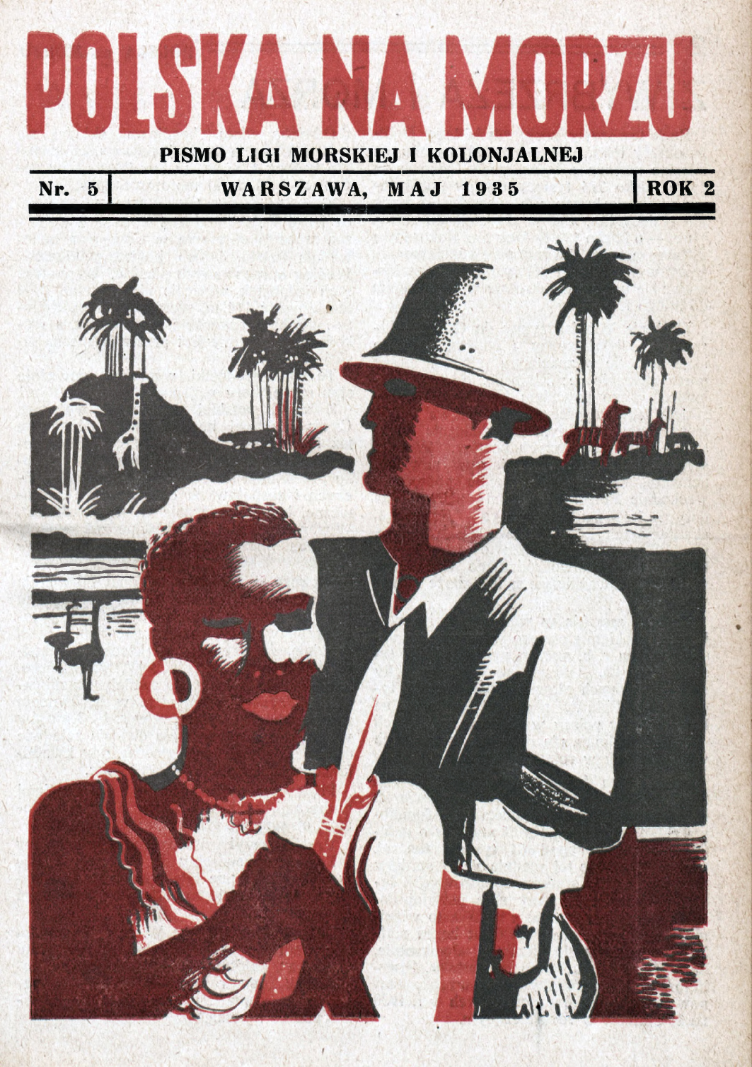 Polska na Morzu : pismo Ligi Morskiej i Kolonjalnej. - Liga Morska i Kolonialna, 1935, nr 5