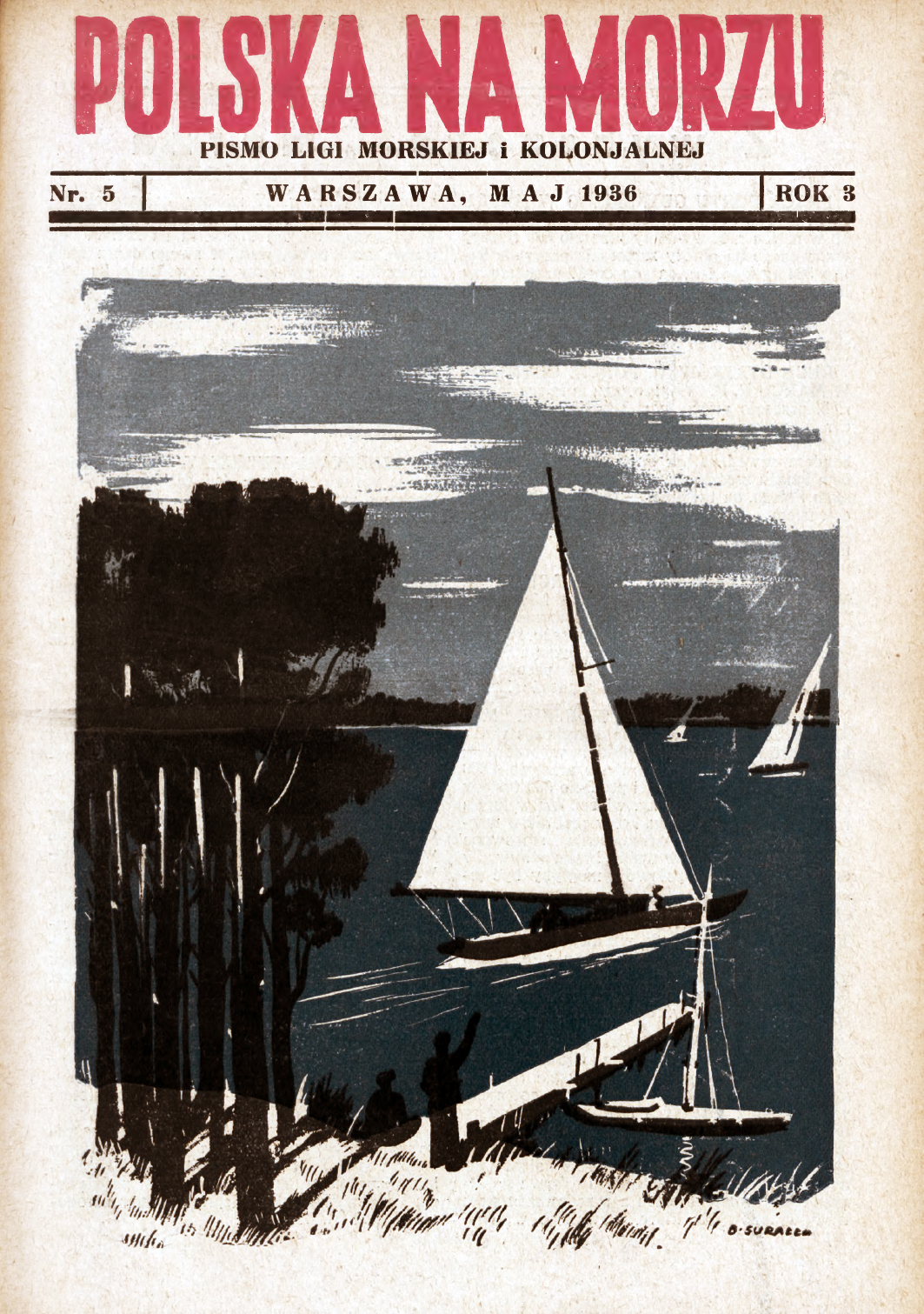 Polska na Morzu : pismo Ligi Morskiej i Kolonjalnej. - Liga Morska i Kolonjalna, 1936, nr 5
