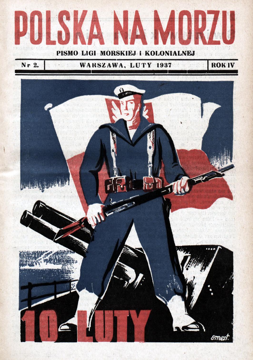 Polska na Morzu : pismo Ligi Morskiej i Kolonjalnej. - Liga Morska i Kolonjalna, 1937, nr 2