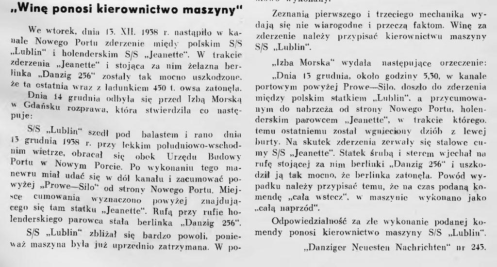 ca na morzu: miesięcznik oficerów polskiej marynarki handlowej. - 1939, nr 1, s. 31
